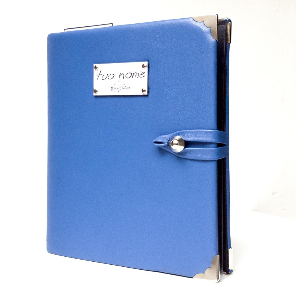 agenda personalizzata azzurra