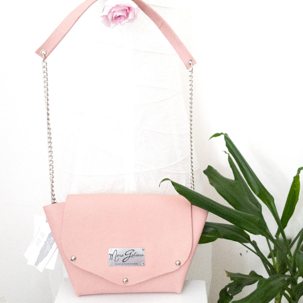 Borsa in pelle Rosa: Origami Bag | Made in Italy