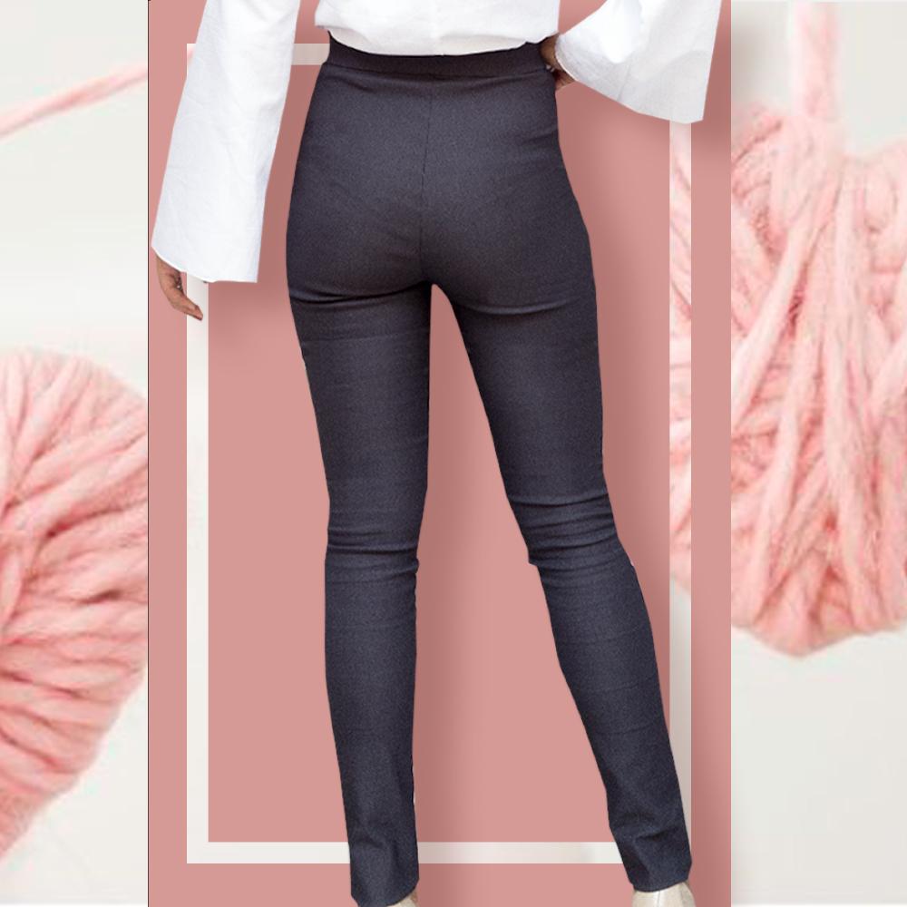 Pantalone skinny : grigio fumo | cotone elastico