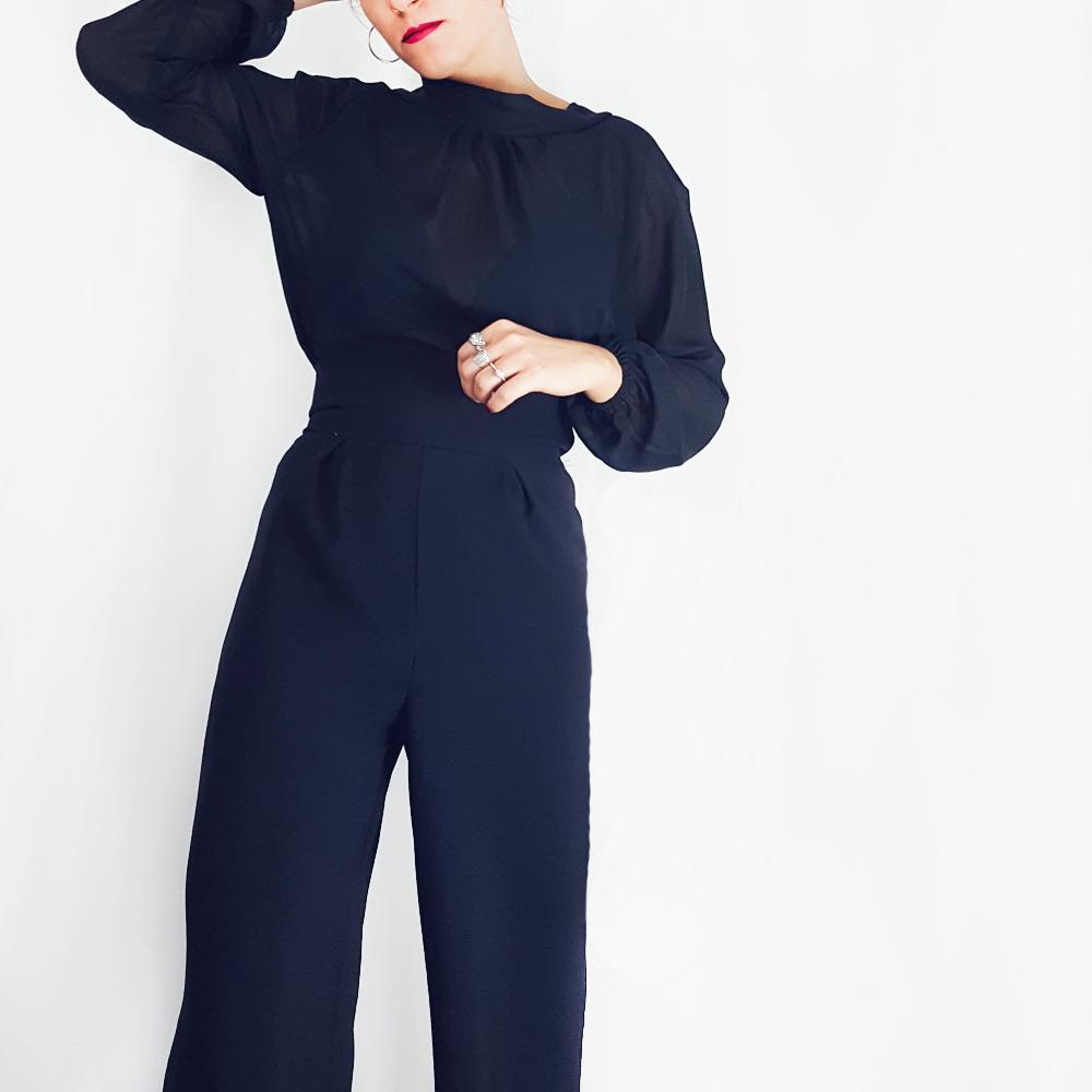 Pantaloni neri donna: vita alta e gamba larga | Made in Italy