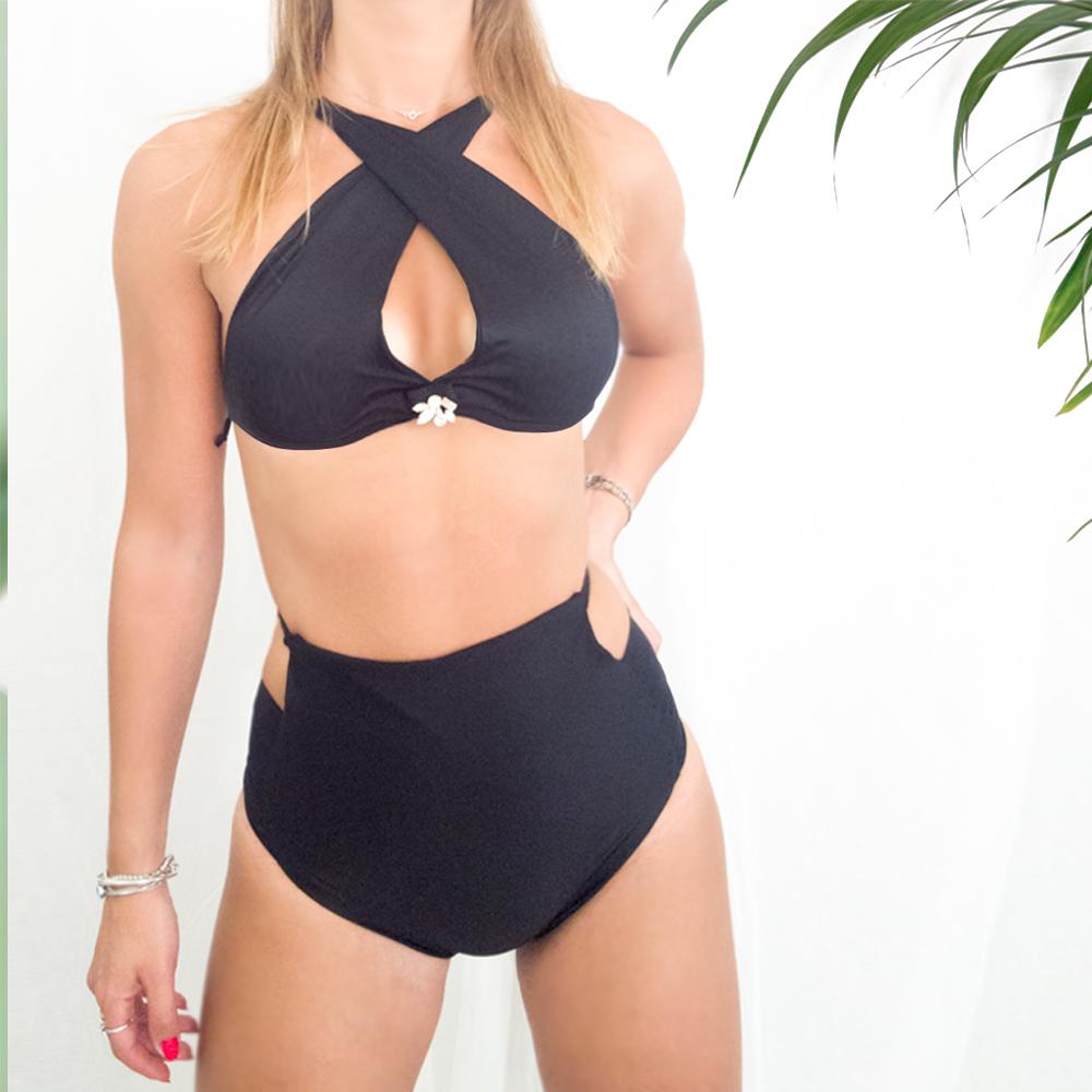 Bikini nero a vita alta | Bikini, costumi da bagno interi e slip bikini | MADE IN ITALY