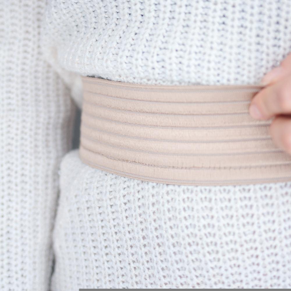 Gonna longuette in lana: colore bianco | vita alta